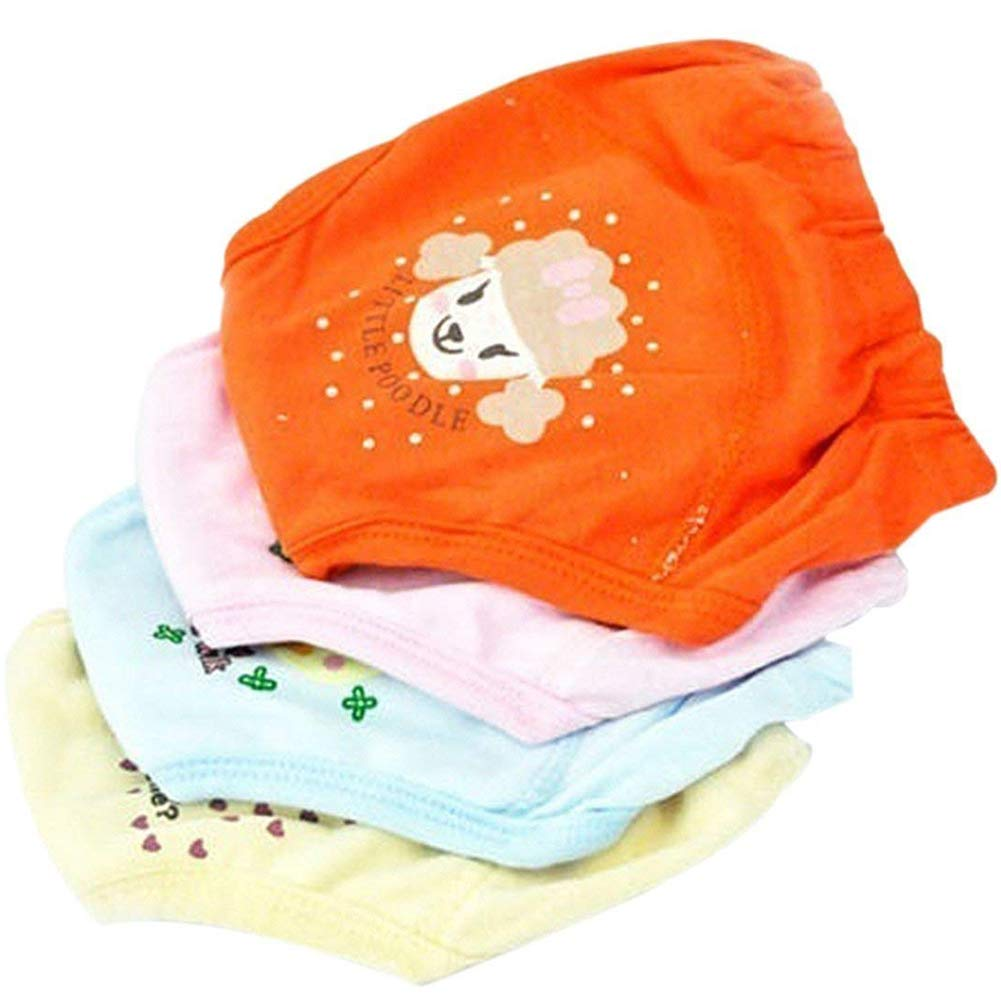DierCosy 4 PCS Baby Training Pants Waterproof Potty Training Underwear Reusable 4-Layer Cloth Diaper for 2-3 Years Toddler, Newborns Assorted Color BabyProducts