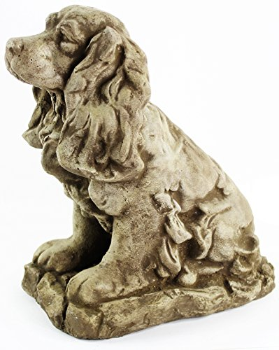 Cocker-Spaniel-Concrete-Outdoor-Garden-Statue-Puppy-Cement-Dog-Figure-Doggy-Sculpture