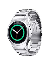 Stainless Steel Band for Samsung Gear S2 RM-720 Smart Watch by D.B.MOOD,4 Color,8.26 Inches Silver