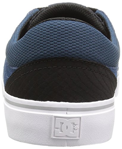 DC Trase S, Sneaker Uomo Black/White/True Red, Blu (Deep Water), 43 EU M