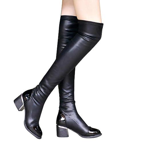 Rodilla Zapatos La Mujer Botas De Sobre 7qFXXw