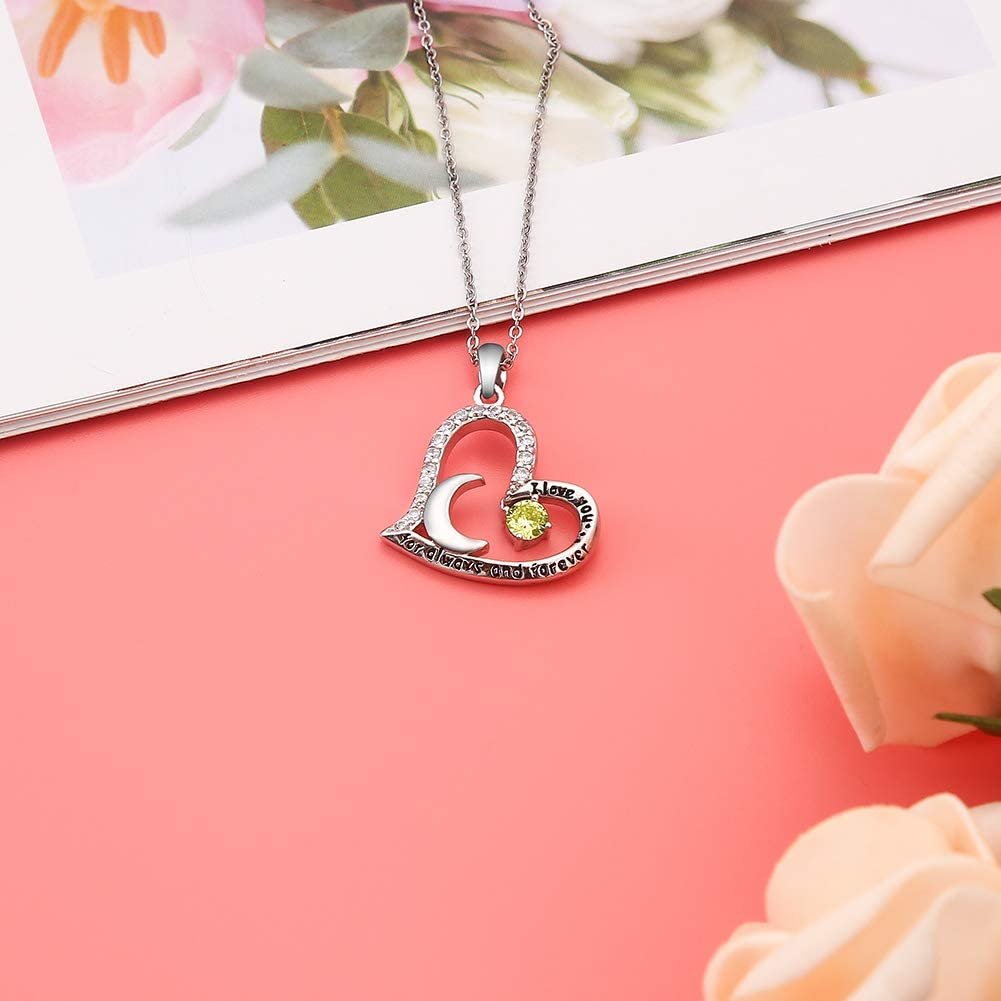 30 Year Old Birthday Gifts for Women Funny 30th Birthday Gifts for Women 30th Birthday Gifts for Women Stainless Steel Womens Yellow Zircon Heart Necklace