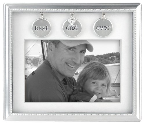 (Malden International Designs Charming Metals Dad Metal Charms Picture Frame, 4x6, Silver)