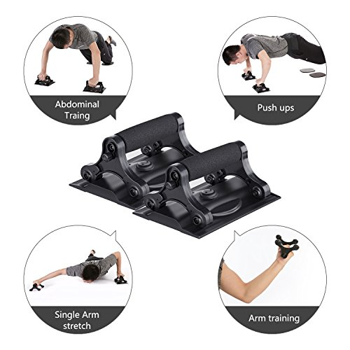 3 In 1 Ab Roller Kit Workout Equipment for Push Up Abdominal Workout and More Strength Training Perfect Exercise Equipment for Home Gym (Include Knee Pad)