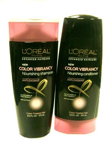 L'oreal Paris Advanced Haircare Color Vibrancy Nourishing Shampoo, and Conditioner 12.6 Fl Oz (Set of 2)