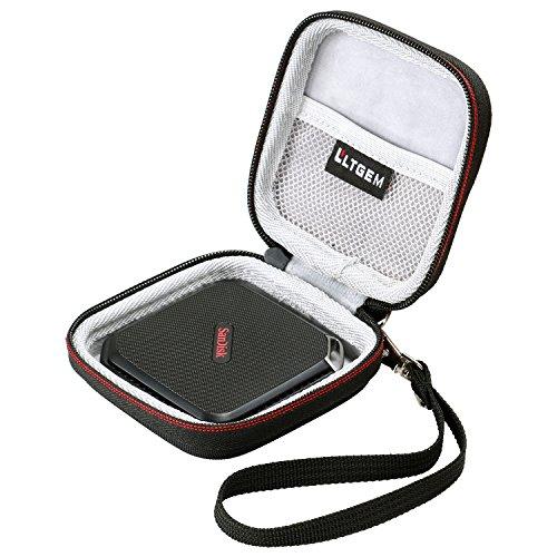 LTGEM for SanDisk Extreme 500 510 Portable SSD External Solid State Drive Hard Case Travel Storage Bag