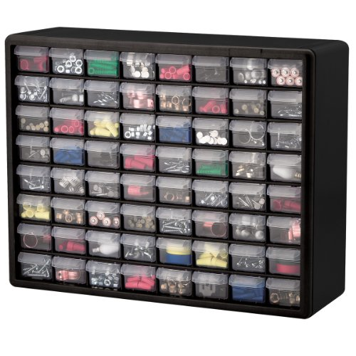 Metal Small Parts Storage Cabinet Drawers: Small Parts Storage Cabinet Drawer Bin Organizer Box 64