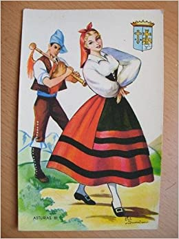 Postal Antigua - Old Postcard : ASTURIAS - Dibujo Elsi Gumier ...