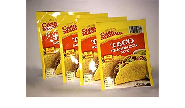 Amazon.com : Casa Mamita Taco Seasoing Mix, 1 Oz. Packets - 4 Pack : Grocery & Gourmet Food
