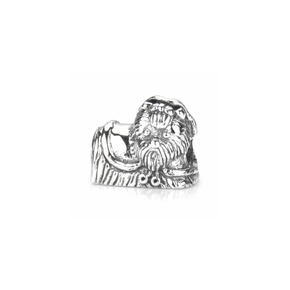 Moress Yorkshire Terrier Yorkie Dog   European Charm Bracelet Bead   Solid Sterling Silver Fits Perfectly on Chamilia Pandora and All Compatible Brands