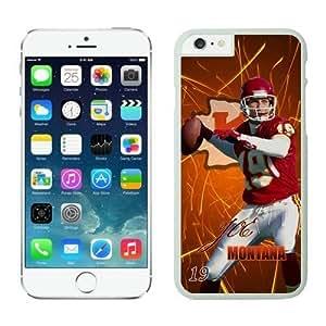 NFL iPhone 6 Plus 5.5 Inches Case Kansas City Chiefs Joe Montana White iPhone 6 Plus Cell Phone Case ONXTWKHB2201