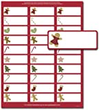 Gingerbread Friends Address Labels - 150 Labels (Label Size is 1in.x2 5/8in.)