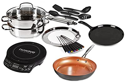Limited Time Holiday Offer Buy The Portable Induction Cooktop NuWave PIC Flex Starter Set Stainless Steel and Non-stick Cookware