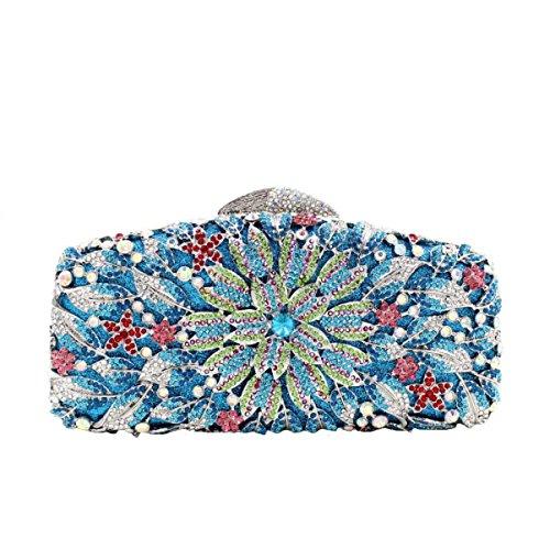 A Fleurs Femmes Main De De Diamants Des Haute Luxe Soirée Sac à De Sac Qualité 6q6wRB