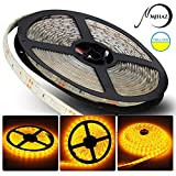 MIHAZ Yellow Lighting Led Strip,Indoor Outdoor Strips 16.4ft 300 Leds 5050 IP67 Waterproof Led Light Strip,LED Tape