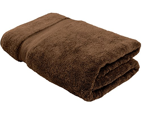 Cotton & Calm Exquisitely Plush and Soft Extra Large Bath Towel (Chocolate/Dark Brown, 35″ x 70″, Set of 1) Premium 100% Combed Cotton Oversized Luxury Bath Sheet, Pool Towel, Beach Towel