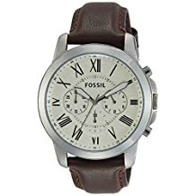 Fossil Men's FS4735 Grant Analog Display Analog Quartz Brown Watch