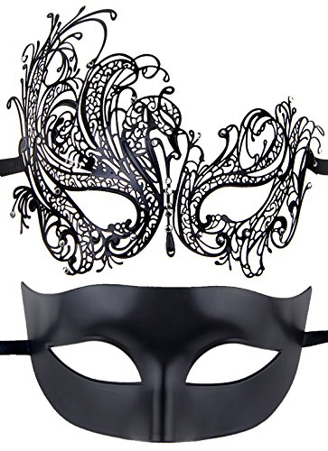 Couples Pair Half Venetian Masquerade Ball Mask Set Party Costume Accessory by IETANG