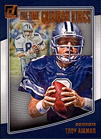 9dd1338d5d9 2018 Donruss All-Time Gridiron Kings #4 Troy Aikman Cowboys Football Card