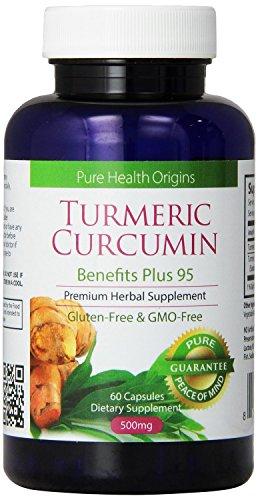 Le curcuma curcumine Capsules Premium Power 95 Formula   Best All anti-inflammatoire naturel anti-douleur   Made in USA.