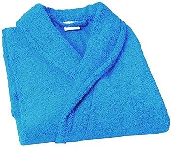 Home Basic Kids - Albornoz con capucha para niños de 4 años, color turquesa: Amazon.es: Hogar