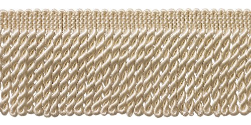 10 Yard Value Pack of Ivory / Ecru 2.5 Inch Bullion Fringe T