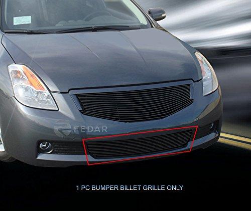 Fedar Compatible With 2008-2009 Nissan Altima Coupe Lower Bumper Billet Grille Grille 1-pc Set-Black