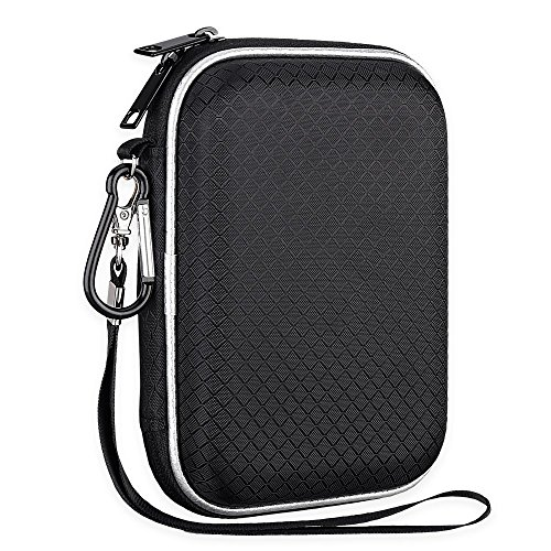 Lacdo EVA Shockproof Carrying Case for Western Digital My Passport Studio Ultra Slim Essential WD Elements SE Portable USB 3.0 Portable 2.5 inch External Hard Drive Travel Case Storage Bag, Large Size