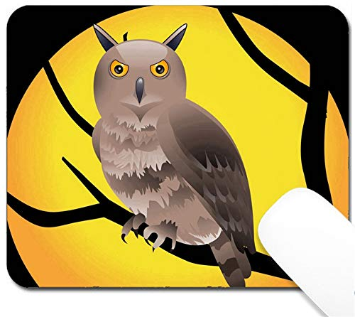 (MSD Mouse Pad with Design - Non-Slip Gaming Mouse Pad - Image ID: 9085552 Abstract Halloween Wallpaper Vector)