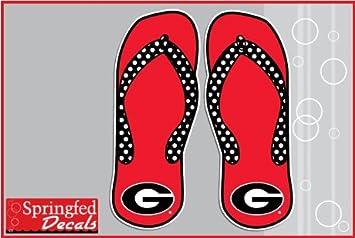 Georgia Bulldogs Flip Flops W G Logo 4 Vinyl Decals