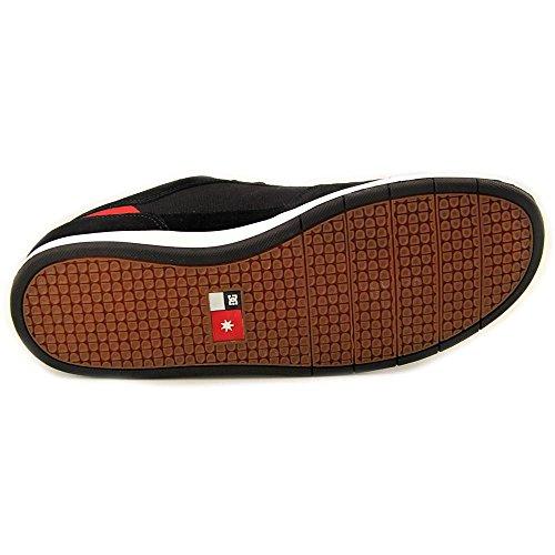 DC - Zapatillas para hombre negro/ rojo