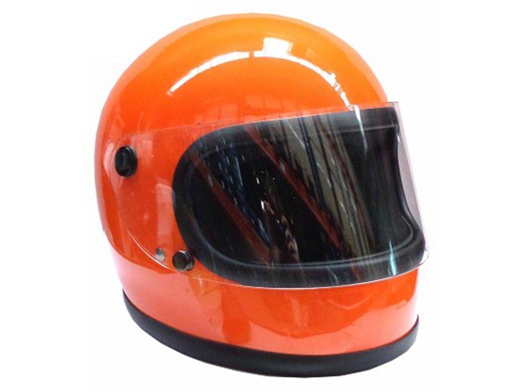 Amazon.es: Kochmann Casco Integral Retro Moto Casco Casco redbike 74 Naranja Talla XL