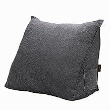 Waist Rest Triangle Office Seat Cushions Lumbar Support Waist Pillow Home Office School Car Waist pillow Sofa Support Backrest (Gray)
