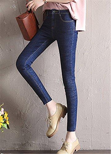 Scuro Ragazzi Dettagli Stretti Autunno Pantaloni In Blu Nell'orlo Pants Jeans Primavera Pantalone Donna Dabag Denim Slim wHqpAx