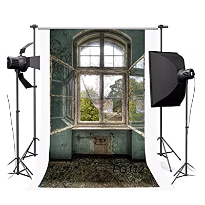 NYMB 3x5ft Poly indoor photography Background seamless customized backdrop various scenes The scenery outside the old window from NYMB