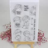 Hijing DIY Clear Stamp Clear Silicone Lovely Clear Pattern Stamp for Panda DIY Album Scrapbooking Photo Card Decor Kid Gift No.1