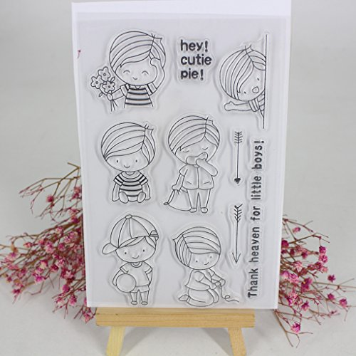 Hijing DIY Clear Stamp Clear Silicone Lovely Clear Pattern Stamp for Panda DIY Album Scrapbooking Photo Card Decor Kid Gift No.1 by Hijing (Image #4)