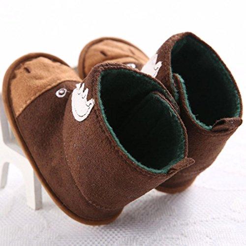 Hunpta Babyschuhe Mädchen Jungen Lauflernschuhe Kinderschuhe Winter Baby Schneestiefel Kleinkind Säugling weiche Sohle Prewalker Krippe Schuhe (11)