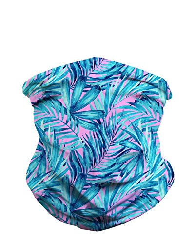 iHeartRaves Aquatic Jungle Seamless Mask - Bandana Mask Face