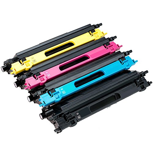 Triple Best Set of 4 TN115 TN-115 Black Cyan Magenta Yellow Remanufactured High Yield Color Laser Toner Cartridge for Replacement of Brother TN115BK TN115C TN115M TN115Y Toner (Tn115 Yellow Toner)