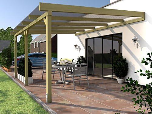 Rügen I Pérgola para terraza acristalada 500 x 400 cm pérgola para ...