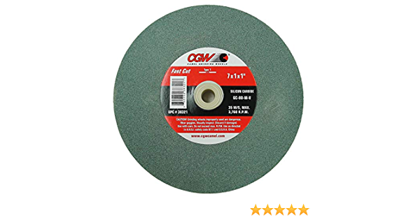 "CGW 7/"" x 1/"" x 1/"" Aluminum Oxide Bench Grinding Wheel Various Choices Fast Cut"