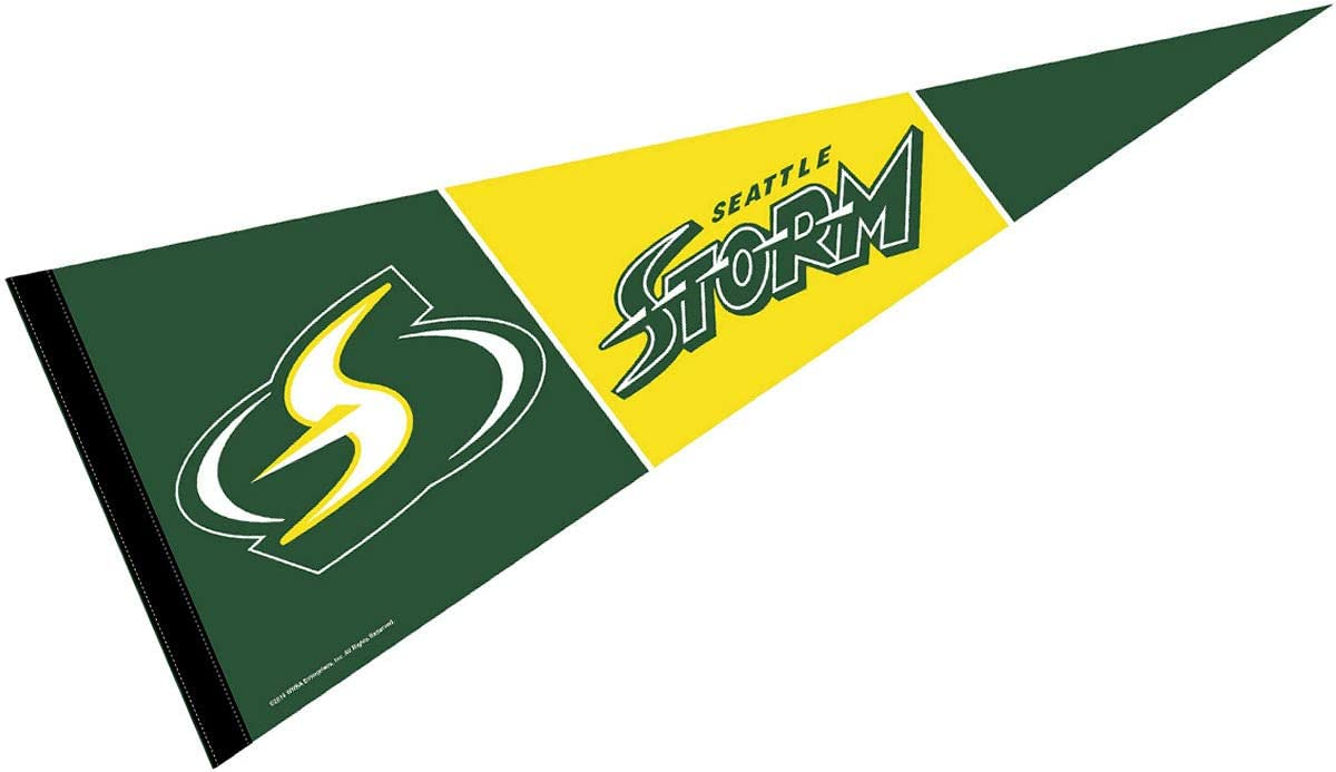 Amazon Com Wincraft Seattle Storm Pennant Banner Flag Sports Outdoors