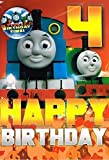 Thomas & Friends Thomas The Tank Engine Age 4 Birthday Card And Badge