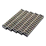 uxcell 5 Pcs 12 Positions Dual Rows 600V 45A Wire Barrier Block Terminal Strip TB-4512