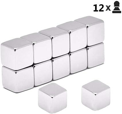 10x Starke Neodym Supermagnete Magnete Würfel N42 10x10x10mm Cube Pinnwand Büro