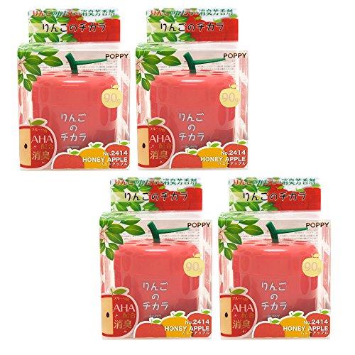 (Super Apple car air freshener, 4 packs Honey Apple scent in cute Apple shape container, best JDM Japan Car, Home, Office Air Freshener)