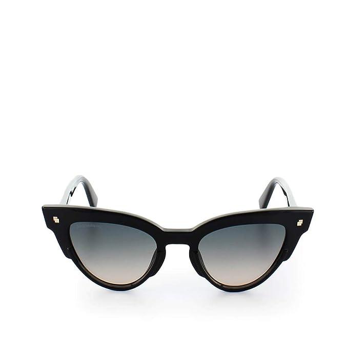 l'atteggiamento migliore 6f16b b61fd DSQUARED2 Women's Sheri Sunglasses, (Shiny Black/Gradient ...