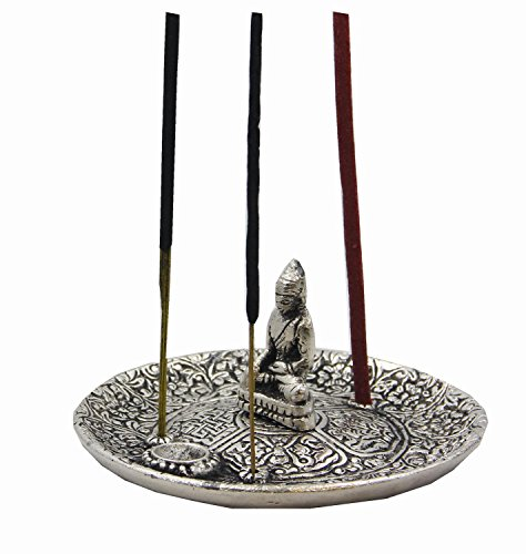 (DharmaObjects Tibetan Buddha Incense Burner Holder)