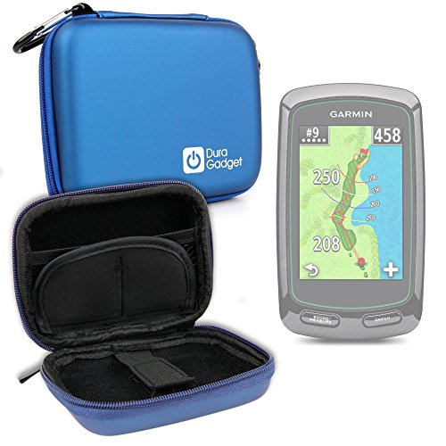 (DURAGADGET Garmin SmartWatch Case - Compatible with Garmin Approach G5, G6, G7, G8, S10, S20, X10 & X40 - Premium Quality Blue Hard EVA Shell Case with Carabiner Clip & Twin Zips)